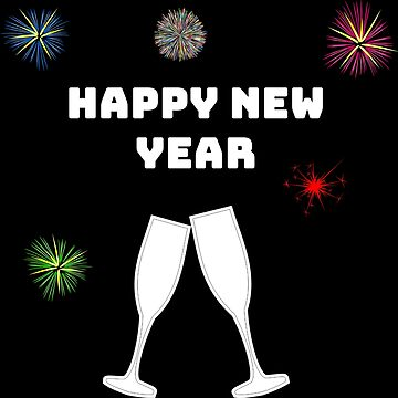 Happy new year new year sylvester sparkling wine by hourglass7