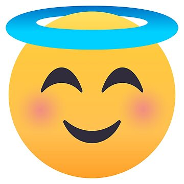 Smiling Face with Halo Emoji by joypixels