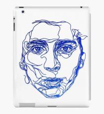 TIMOTHEE CHALAMET - einfache Strichzeichnung iPad-Hülle & Klebefolie