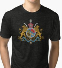 Imperial Coat of Arms of Iran under the Pahlavi Dynasty Tri-blend T-Shirt