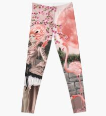 Flamingo Fairy - Pink Moon Leggings