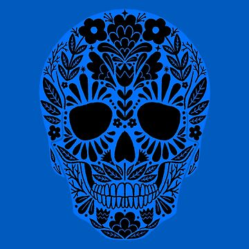 Sugar Skull Blue by Bethany-Bailey