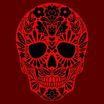 Sugar Skull Red by Bethany-Bailey