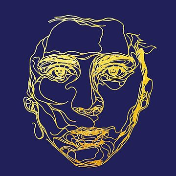 Gold Leaf - Line Drawing of Timothee Chalamet by MelanixStyles