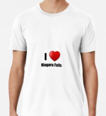Niagara Falls I Love City Lover Pride Funny Gift Idea Men's Premium T-Shirt