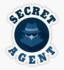 Funny Spy - Secret Agent Identity - Covert Job Investigation Humor Sticker