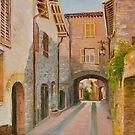 Assisi Vicolo (Passageway) by Dai Wynn