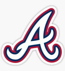 Atlanta Georgia Baseball Inspired Art  Sticker