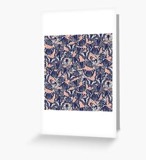 butterfly pale coral Greeting Card