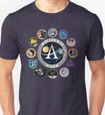 Apollo Missions Patch Abzeichen T-Shirt NASA Shirt Programm Slim Fit T-Shirt