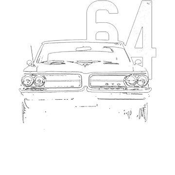 1964 GTO Grill View Worn T-Shirt by NorthAmericaTs