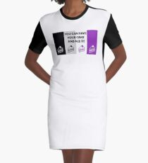 Asexual Flag You Can Have Your Cake And Ace It Asexual T-Shirt Graphic T-Shirt Dress