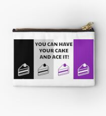 Asexual Flag You Can Have Your Cake And Ace It Asexual T-Shirt Studio Pouch