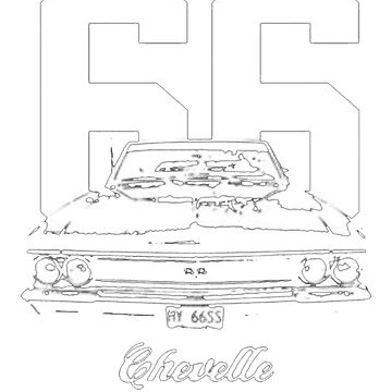 1966 Chevelle Grill View Worn Look T-Shirt by NorthAmericaTs