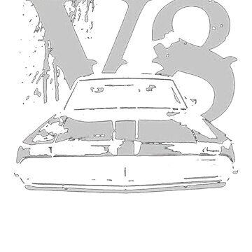1969 Mercury Cougar Eliminator Grill Worn Look T-Shirt by NorthAmericaTs