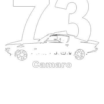 1973 Camaro Side View Worn Look T-Shirt by NorthAmericaTs