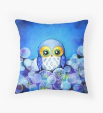 Lunar Owl Throw Pillow