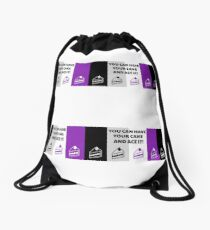 Asexual Flag You Can Have Your Cake And Ace It Asexual T-Shirt Drawstring Bag
