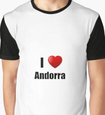 Andorra I Love Country Lover Pride Funny Gift Idea Graphic T-Shirt
