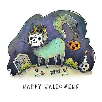 Happy Halloween Cat by spookydooky