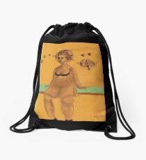 Run away Imagination, a mini fantasy Drawstring Bag