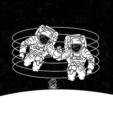 Astronauts black and white by piedaydesigns