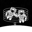 Astronauts black and white by piedaydesigns