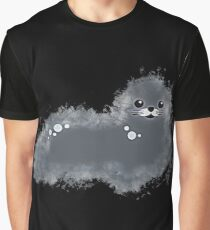 Harbor seal glowing Art Graphic T-Shirt