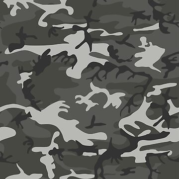 Charcoal Gray Camo Pattern by BuzzEdition