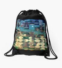 Round Holes in Square Boxes, Texas Drawstring Bag