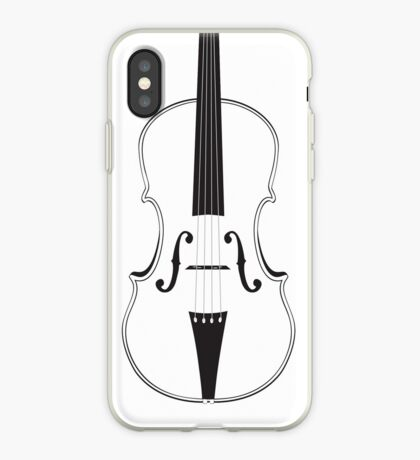 Violine Silhouette iPhone-Hülle & Cover