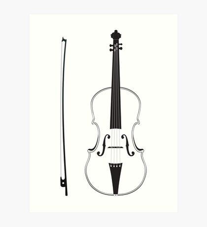Violine Silhouette Kunstdruck