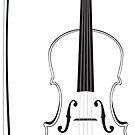 Violine Silhouette von AnnArtshock