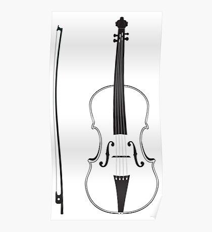 Violine Silhouette Poster