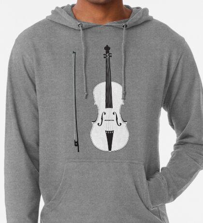 Violine Silhouette Leichter Hoodie