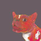 French Bulldog 'Elvis' muted chalk painting cutout  by Kennsco