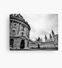 City building in black and white Metal Print