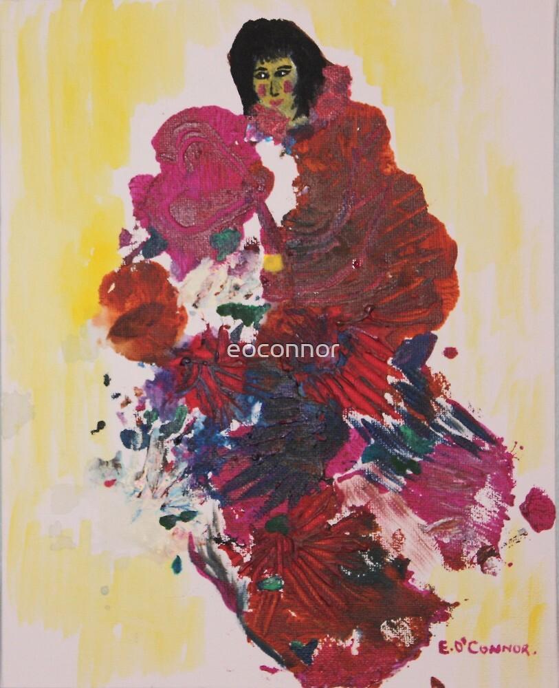 the kimono 8x10 acrylic on canvas by eoconnor