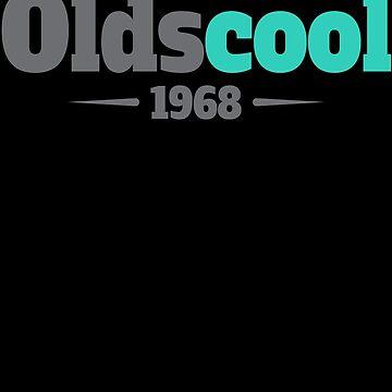51st Birthday Oldscool 1968 Gift Funny Old School by modernmerch