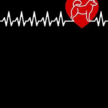 Husky Heartbeat Gift Siberian Husky Lover by modernmerch