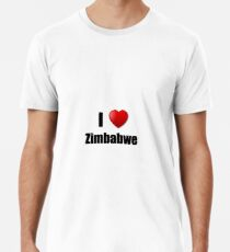 Zimbabwe I Love Country Lover Pride Funny Gift Idea Männer Premium T-Shirts