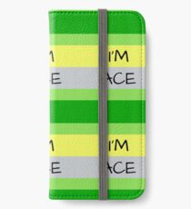 AROMANTIC FLAG I'M ACE ASEXUAL T-SHIRT iPhone Wallet/Case/Skin