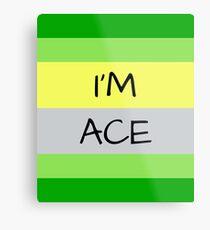 AROMANTIC FLAG I'M ACE ASEXUAL T-SHIRT Metal Print