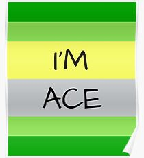 AROMANTIC FLAG I'M ACE ASEXUAL T-SHIRT Poster