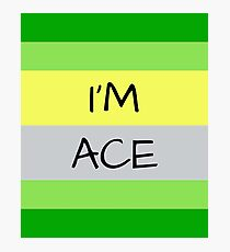 AROMANTIC FLAG I'M ACE ASEXUAL T-SHIRT Photographic Print