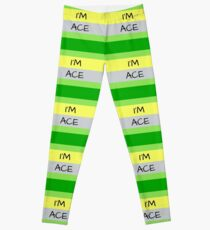 AROMANTIC FLAG I'M ACE ASEXUAL T-SHIRT Leggings