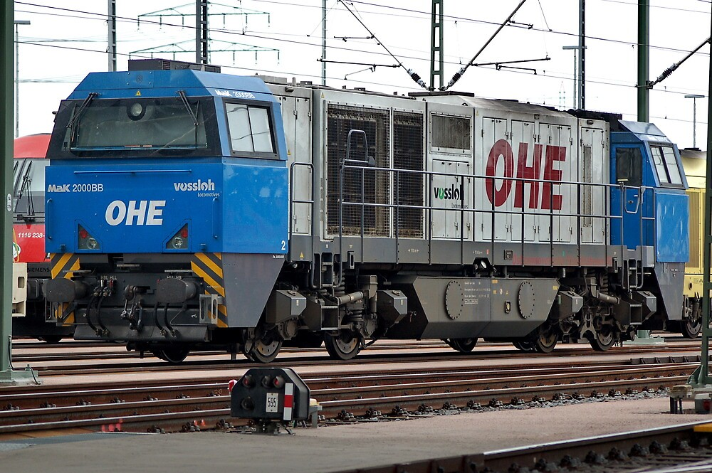 The railroad engine of the class Mak 2000 BB of German Privat railways. by trainmaniac