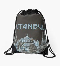 Blue Mosque 5 Drawstring Bag