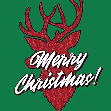 Christmas Reindeer by BlueRockDesigns