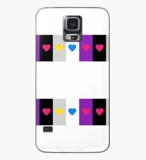 Panromantic Hearts Asexual Flag Stripes Asexual T-Shirt Case/Skin for Samsung Galaxy